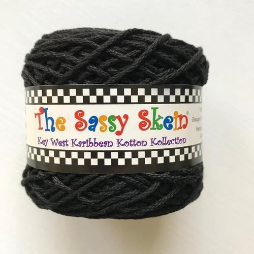 The Sassy Skein:  Worsted Yarn:  201 Licorice