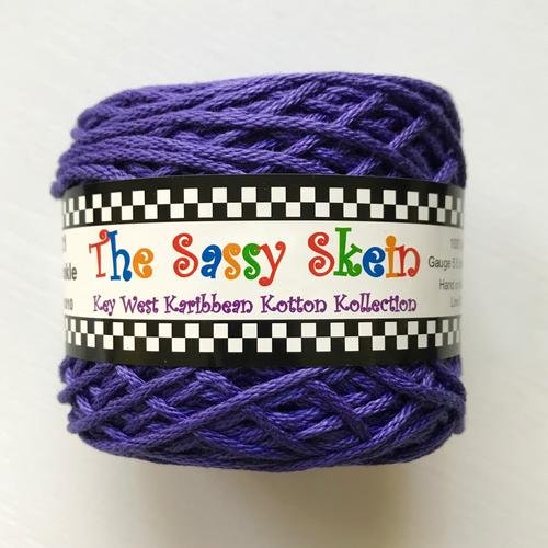 The Sassy Skein:  Worsted Yarn:  221 Periwinkle