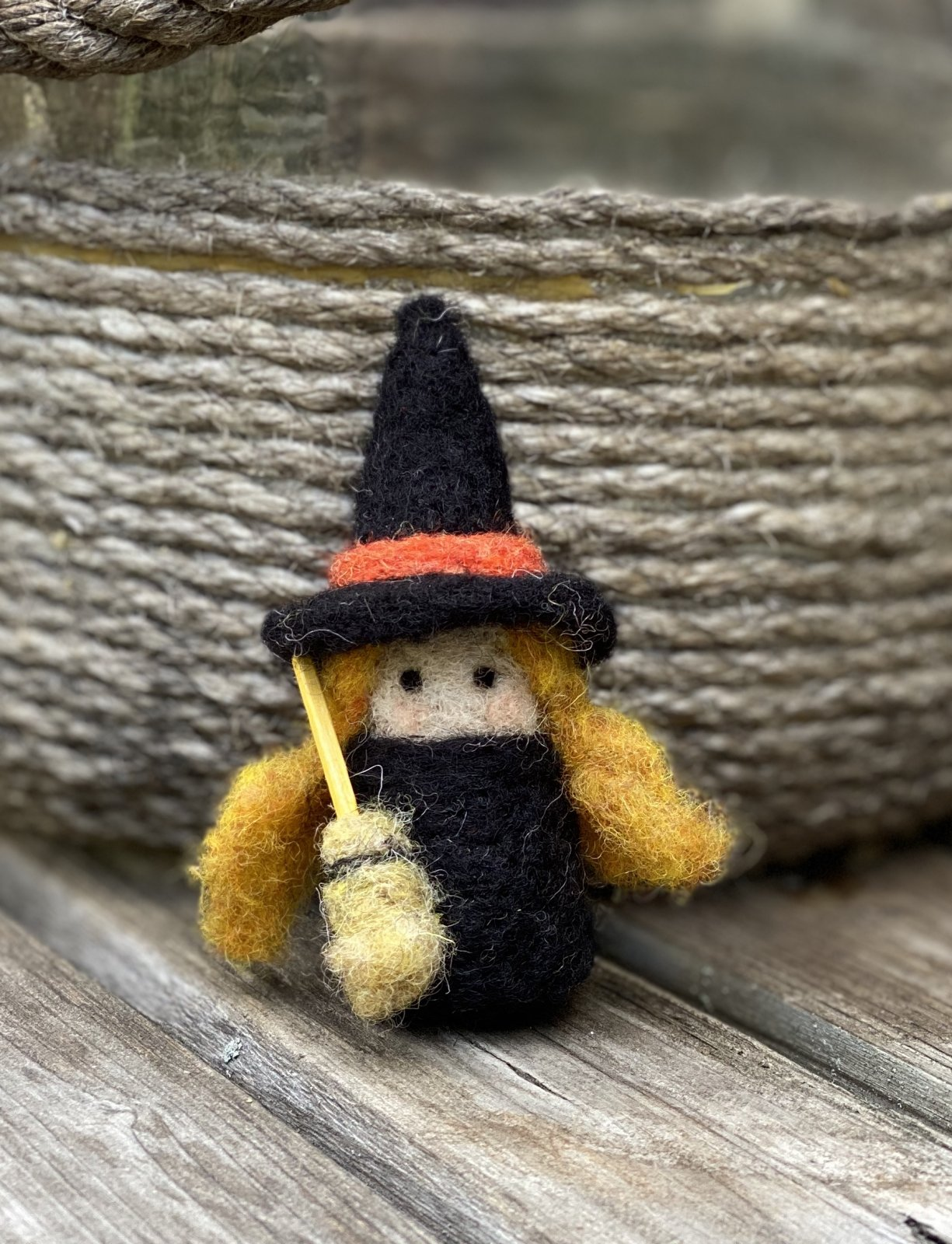 Felted Witch Kit with foam & needles