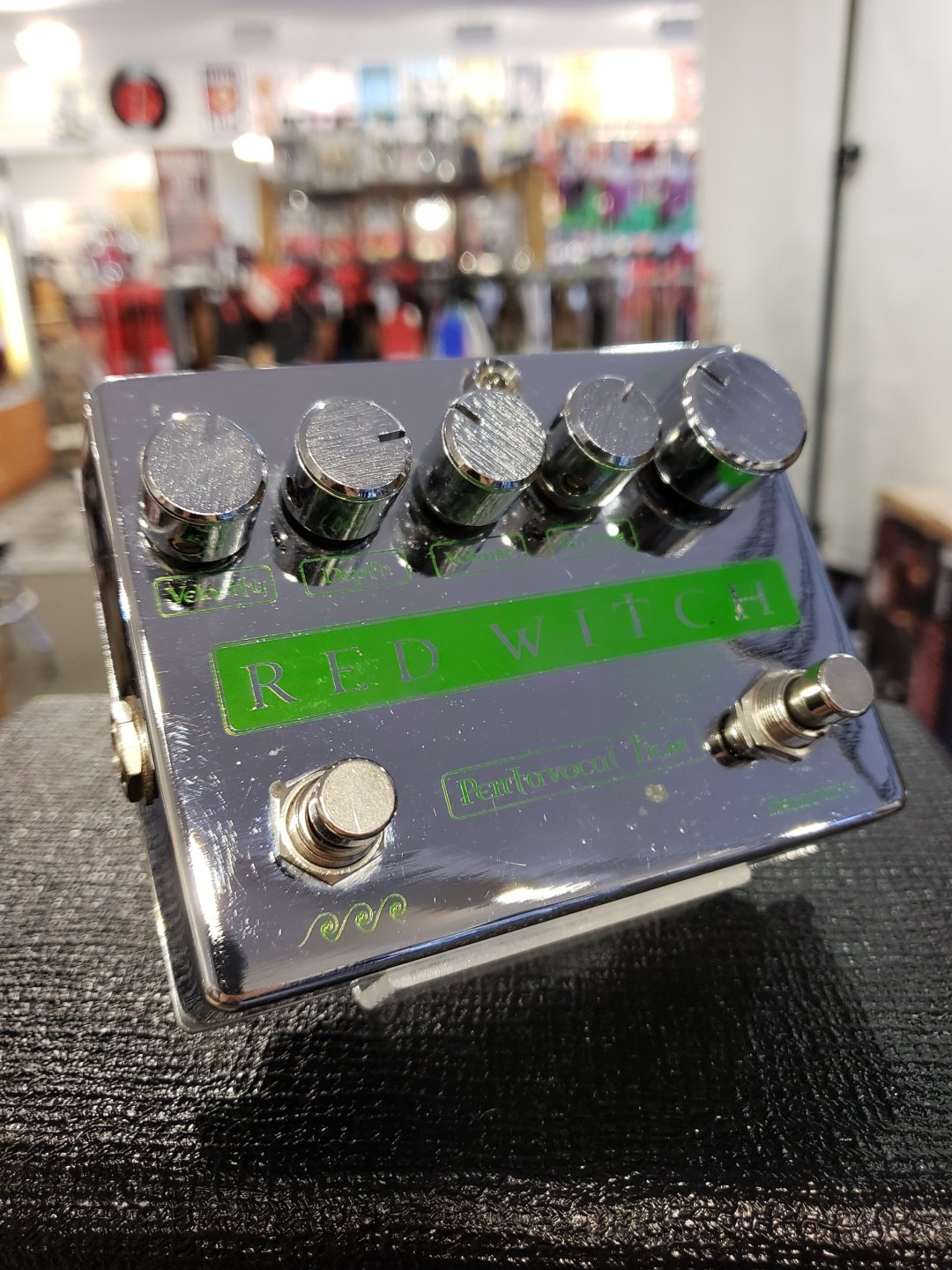 USED Red Witch Pentavocal Tremolo Chrome