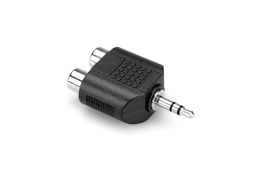 Hosa GRM-193 Dual RCA to 3.5 mm TRS Adaptor
