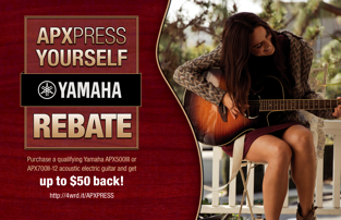 Yamaha APXress Yourself Rebate