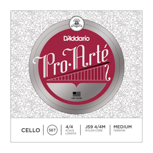 D'Addario Pro-Arte Cello String Set, 4/4 Scale, Medium Tension