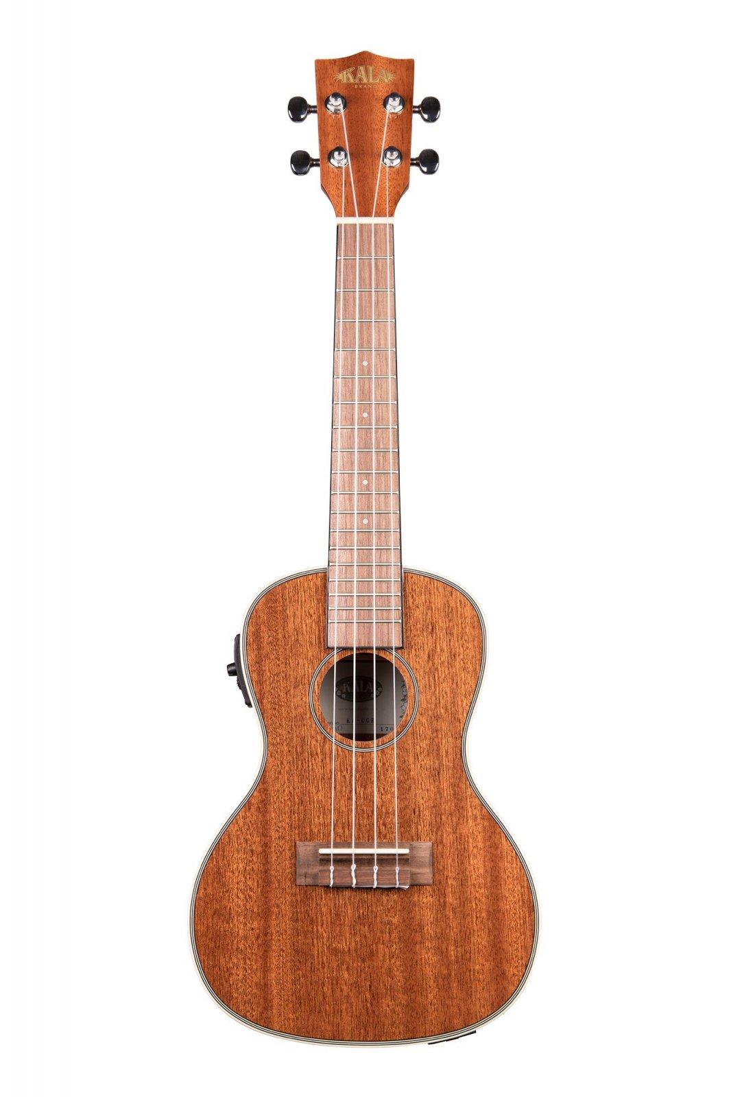 Kala KA-CGE Gloss Mahogany Concert Ukulele with Pickup