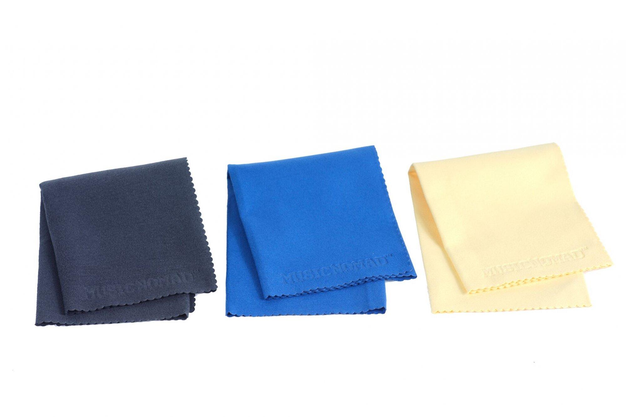 Music Nomad Super Soft Edgeless Microfiber Suede Polishinh Cloth - 3 pack