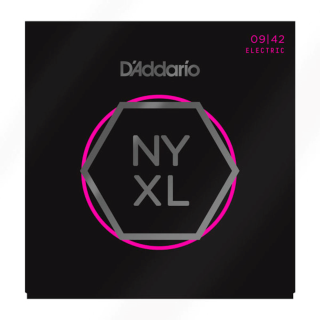 D'Addario NYXL0942 Nickel Wound Electric Guitar Strings Super Light 9-42