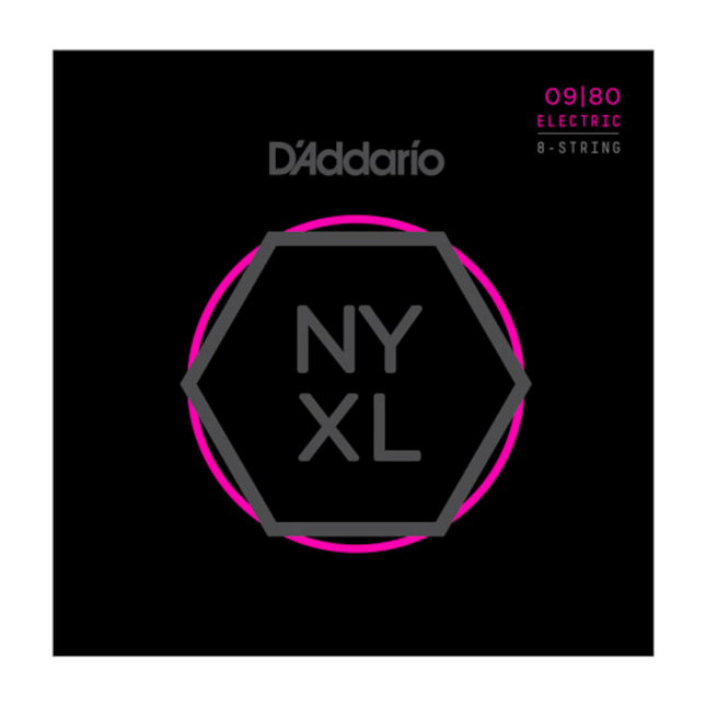 D'Addario NYXL0980 Nickel Wound 8-String Electric Guitar Strings Super Light 09-80
