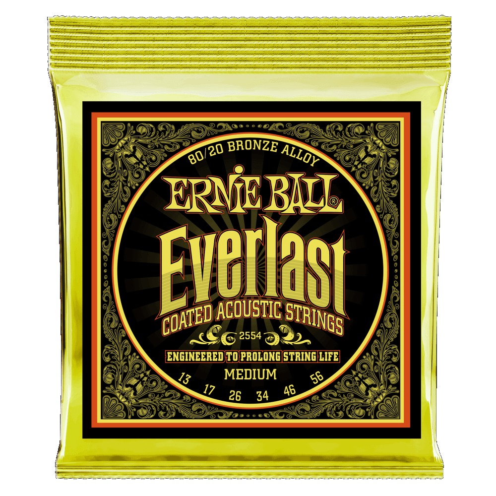 Everlast Medium (13-56) Coated 80/20 Bronze Acoustic Guitar Strings