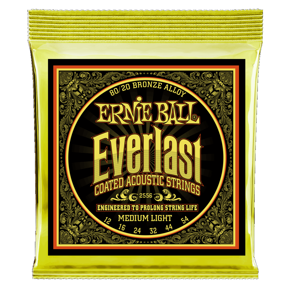 Everlast Medium Light (12-54) Coated 80/20 Bronze Acoustic Guitar Strings