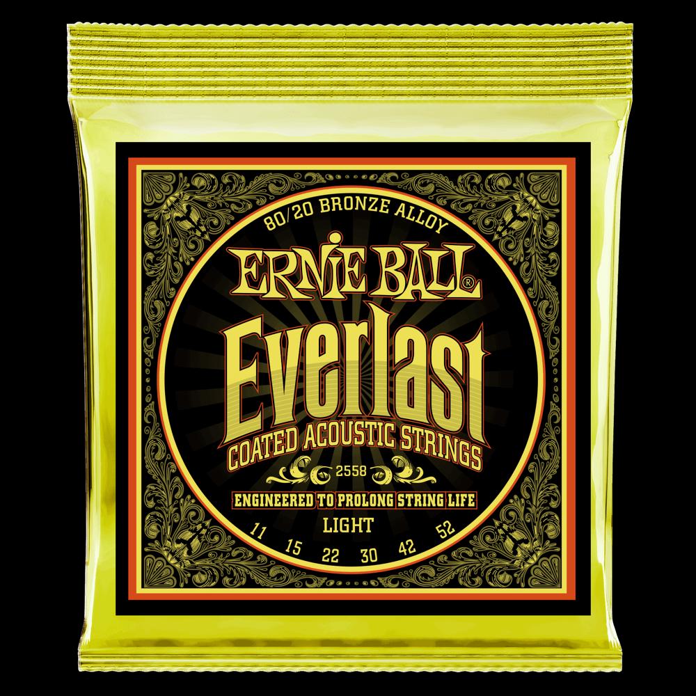 Everlast Light (11-52) Coated 80/20 Bronze Acoustic Guitar Strings