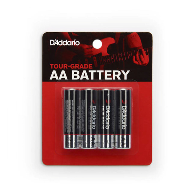 D'Addario AA Battery, 4-Pack