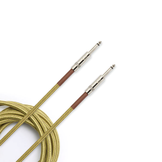 D'addario Custom Series Braided Instrument Cable - Tweed