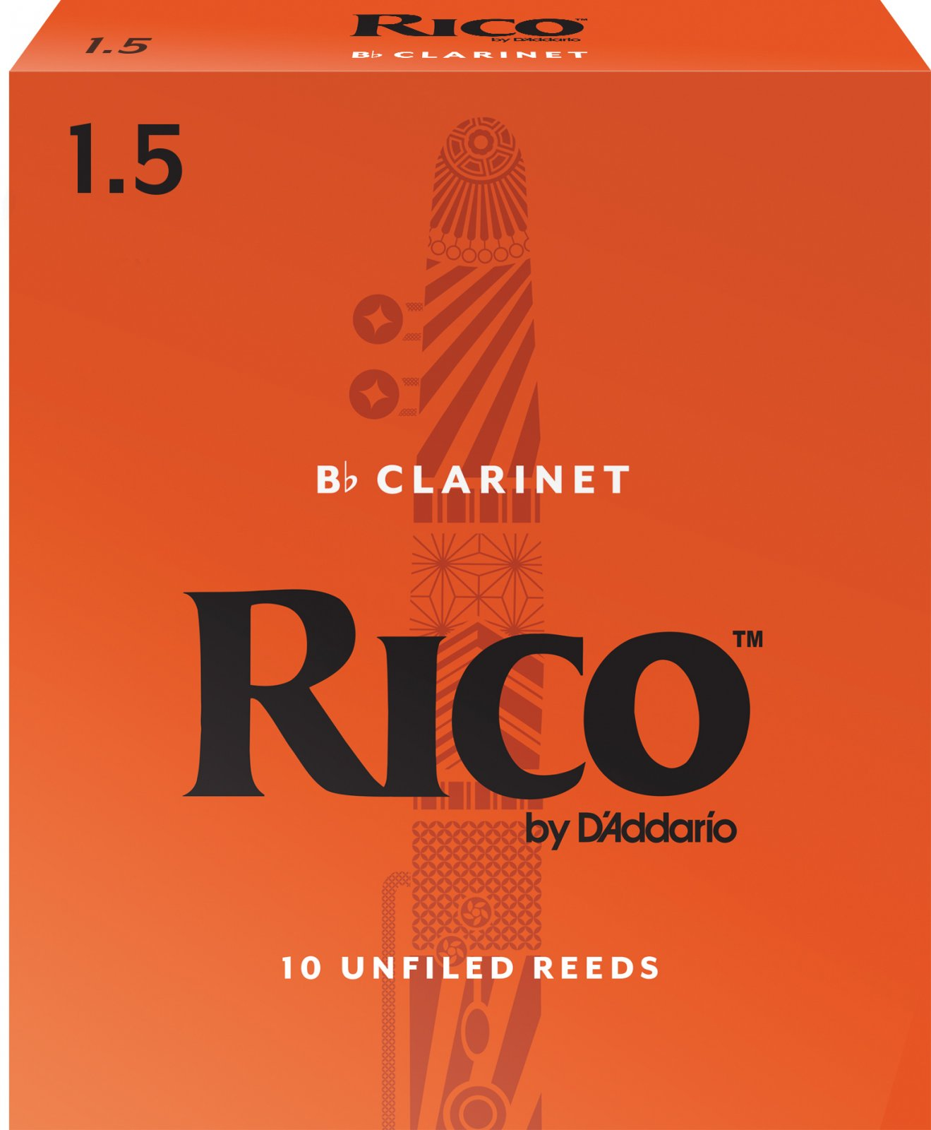 Rico by D'Addario Bb Clarinet Reeds 10-pack