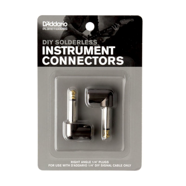 D'addario DIY Cable Kit Right Angle Plug (2pk)