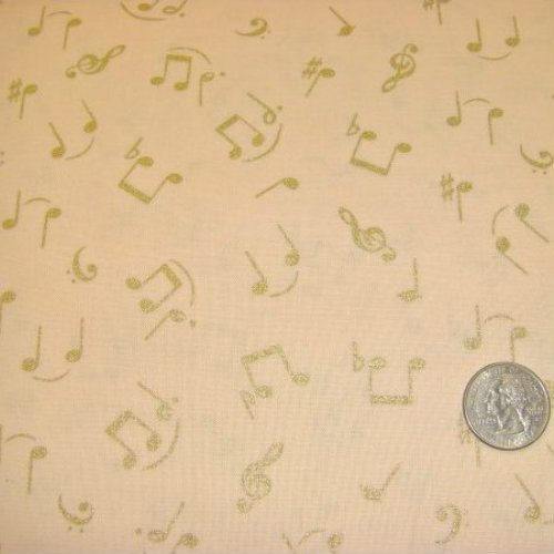 Symphony of Song Music Notes Cream - BTR6424-M