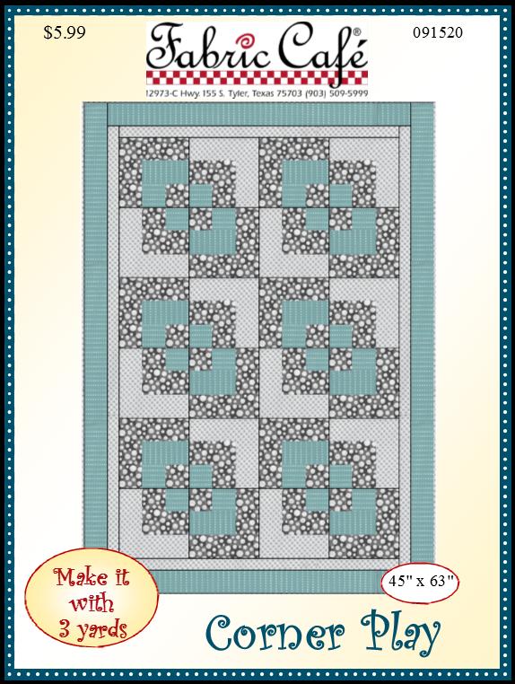 Corner Play - 3 Yard Quilt Pattern
