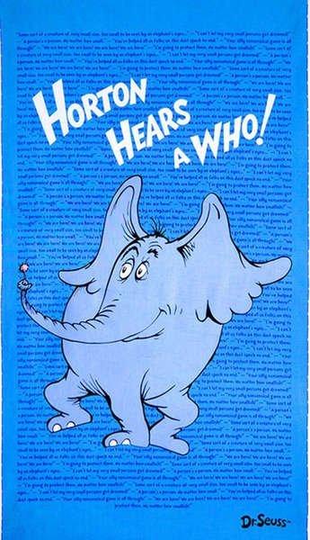 Horton Hears a Who Panel - ADE-15380-4 BLUE