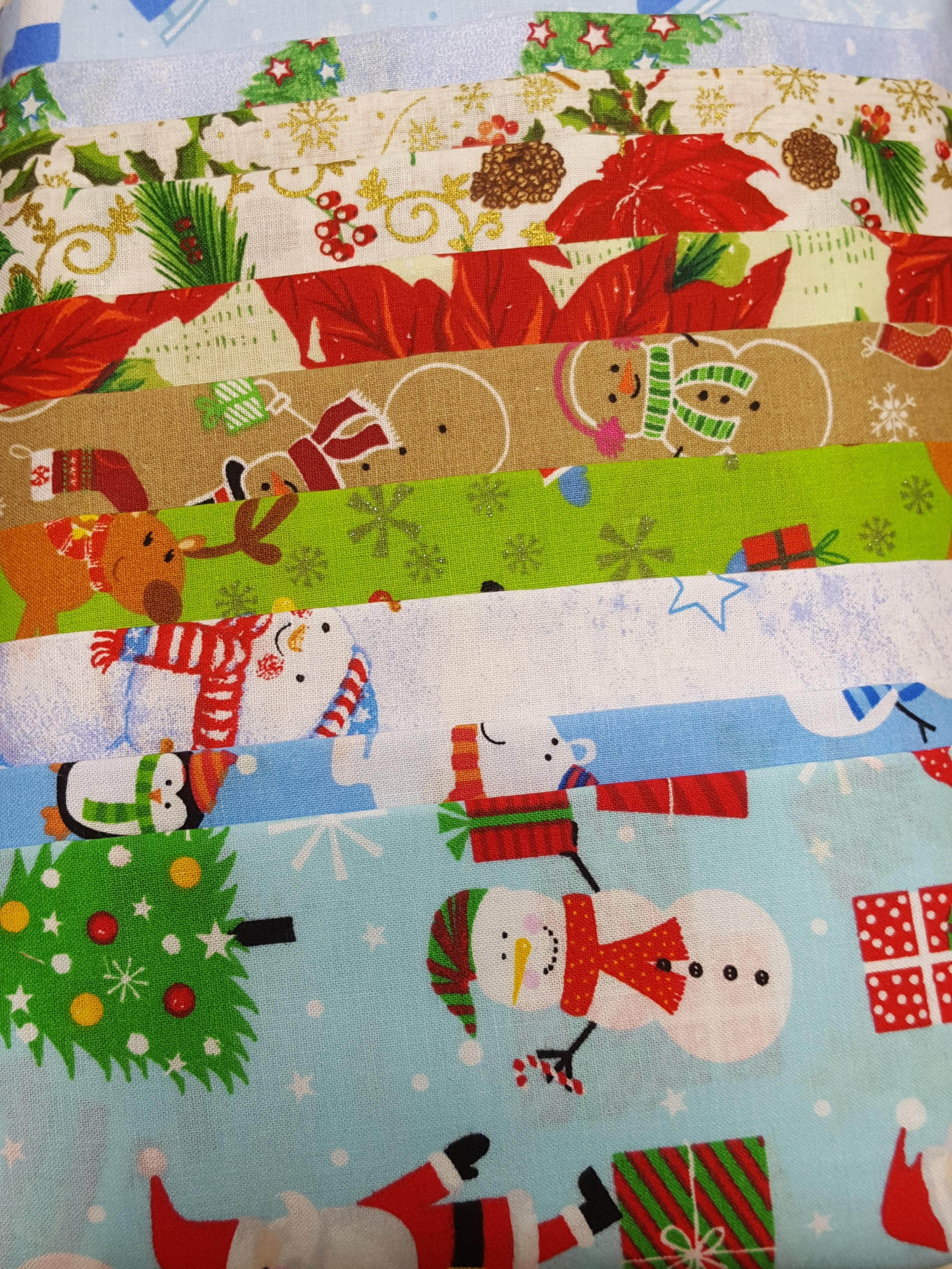 Christmas Fabric Bundle<br>10 - 1/2-yard cuts
