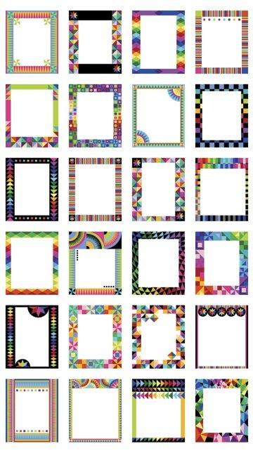 Colorworks Concepts Frames 2/3 yd panel 20825 99 Black
