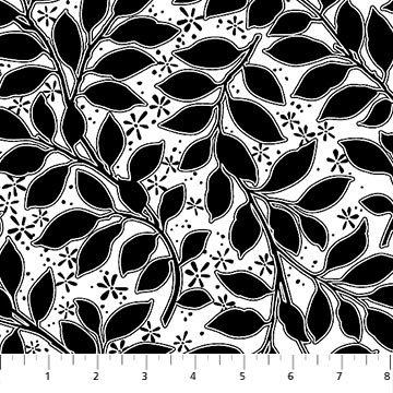 Ebony & Ivory Leaves - 21279-10