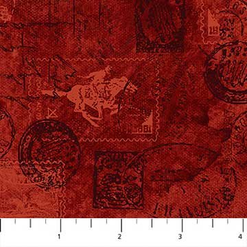 Pony Express 21835 24<br>Allover Stamps/Stationary Red