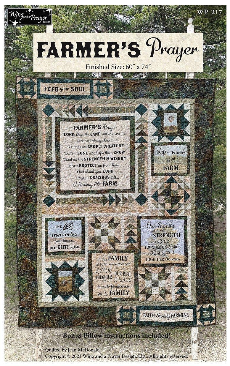 Farmer's Prayer Quilt Kit 60 x 74