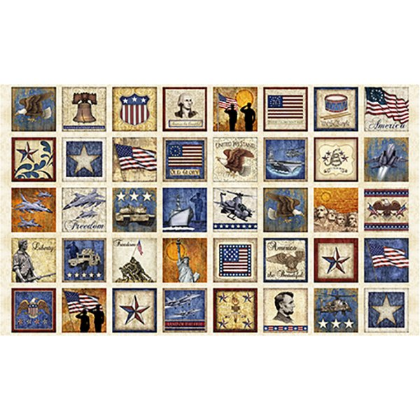 Home of The Brave Patriotic Patches 24 panel - 164924806E