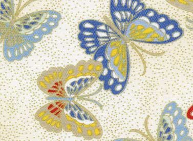 Cream Butterflies w/Metallic -25002-CRE1