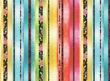 Multi Rose Stripe