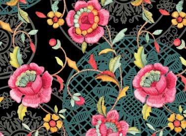 Black Floral - 25007-BLA1