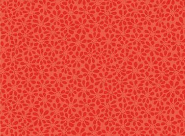 Red Flowers -25076-RED1