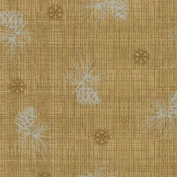 Brown Pine Cone Texture w/Metallic-25199-MDBR01