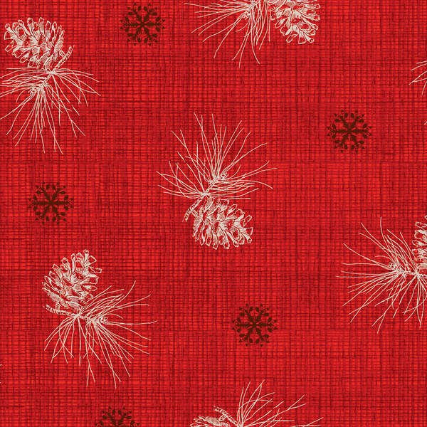 Red Pine Cone Texture w/Metallic 25199-RED1