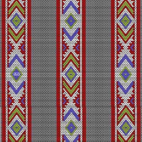 Indian Paintbrush - Indian Blanket Stripe Dk. Grey - 1649-26138-K
