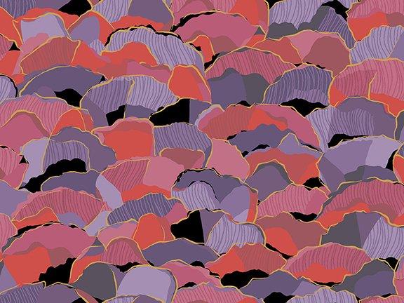 Bellisima 1649-26211-J - Packed Petals Black