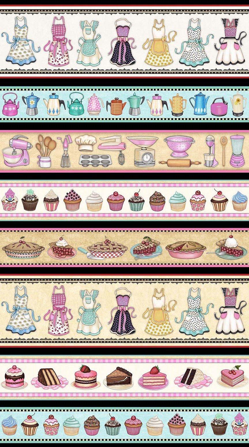 Home Sweet Home 1649-26325-J - Kitchen Decorative Stripe