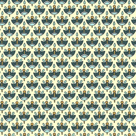 Portofino 1649-26398-EQ Fourlard - Cream/Teal