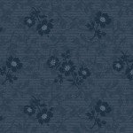 American Beauty Floral Texture Dark Blue