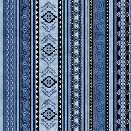Mustang Sunset 1649-26487-B Stripe -Blue