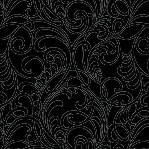 A Wildflower Meadow - Meadow Scroll Black - 02968-12