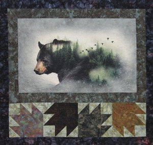 Bear Quilt with Bear Paw blocks