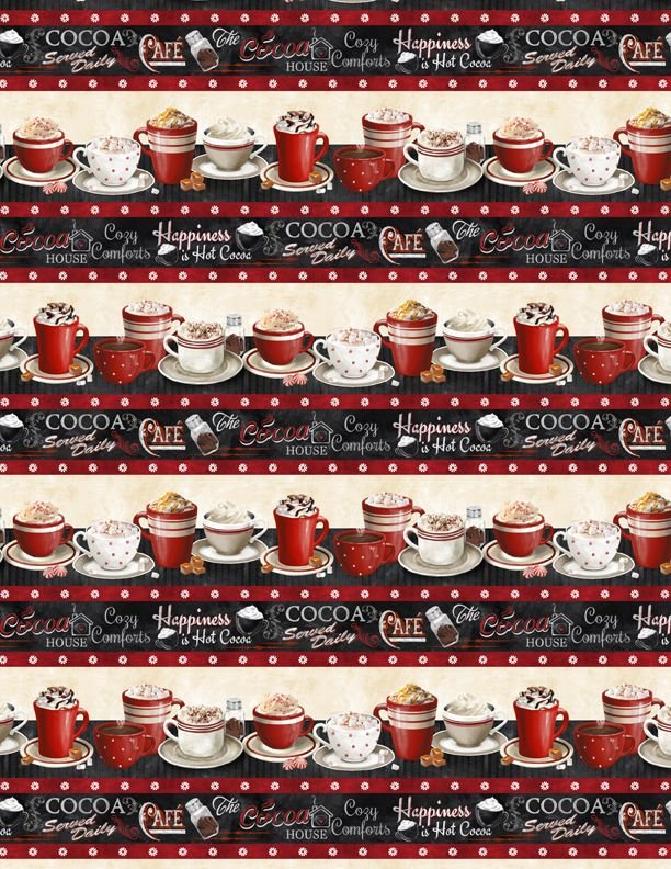 Time For Hot Cocoa 3046-30522-923 Repeating Stripe