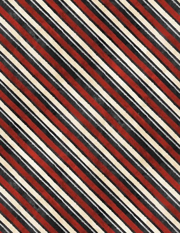 Time For Hot Cocoa 3046-30528-939 Diagonal Stripe - Black