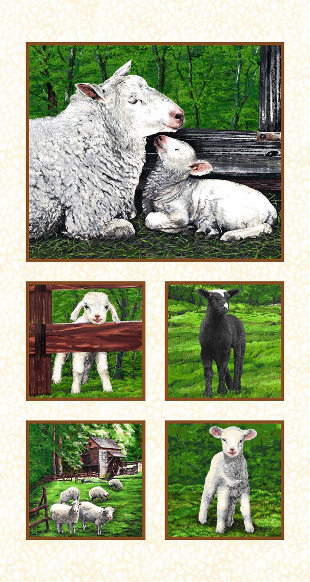 In the Meadow 24 Sheep panel- 61321-9