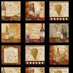 Wine a little you'll feel better! 2/3-yd Craft Panel 42344-923