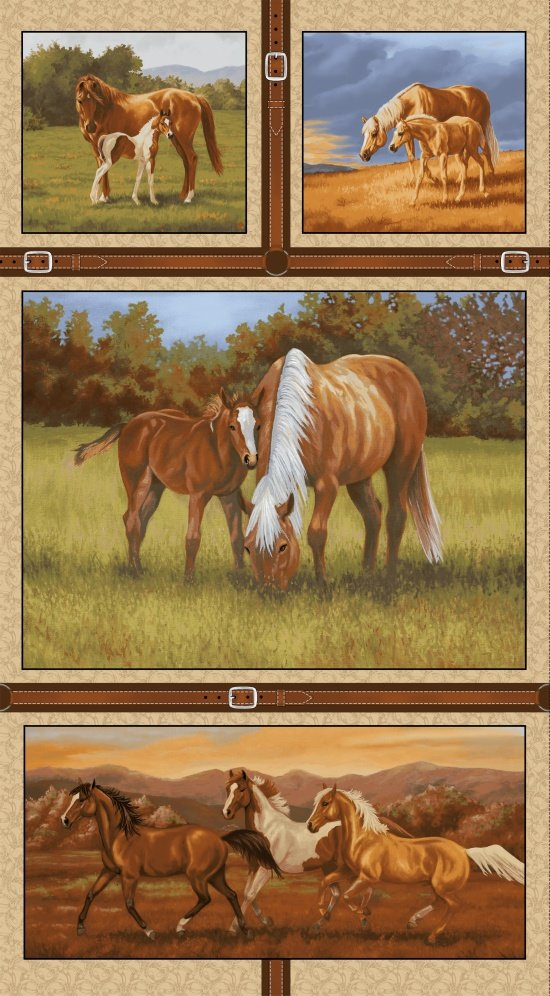 Hold Your Horses 4381P-33 - Panel 24x 44