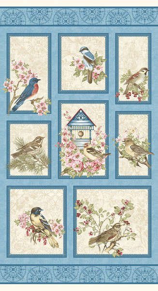 Birds of a Feather 2/3 yd  Panel Multi 00463 99