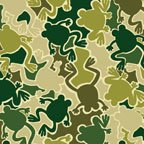 Camo Mix Frogs - green 04819