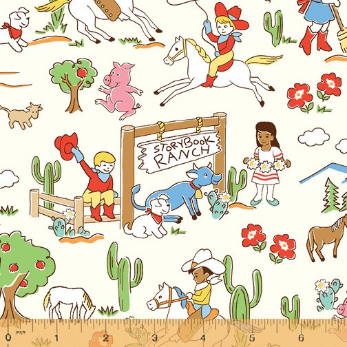 Storybook Ranch 50696-X - Character Scatter White