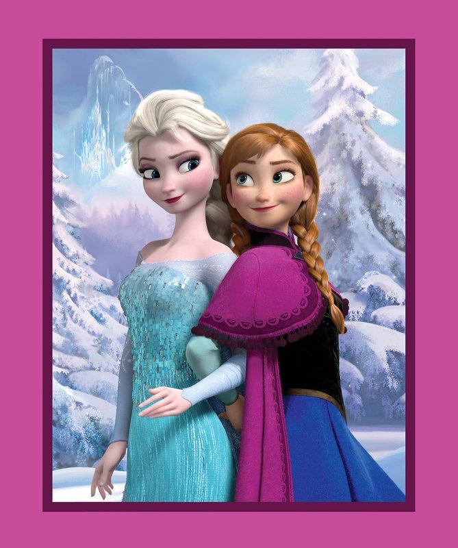 Disney Frozen Snowy Scenic 1-yd Panel